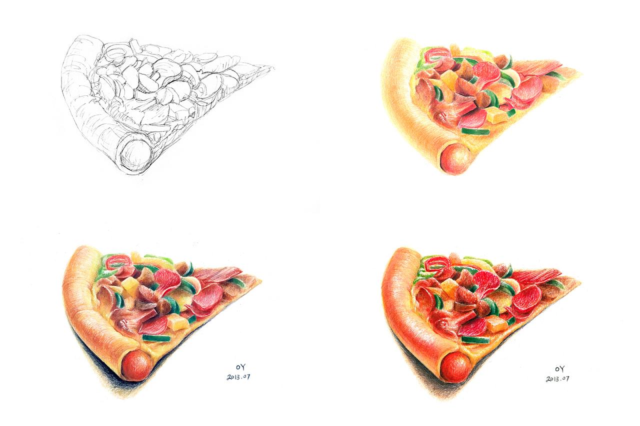 oy手绘:牛排·披萨