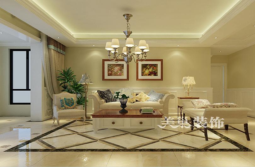 郑州正商铂钻150平四室两厅欧式风格案例装修效果图图片