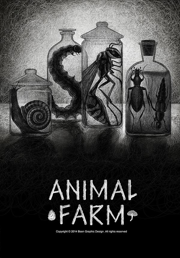 青春答卷2014#完整版《动物庄园》bsen插画毕业设计