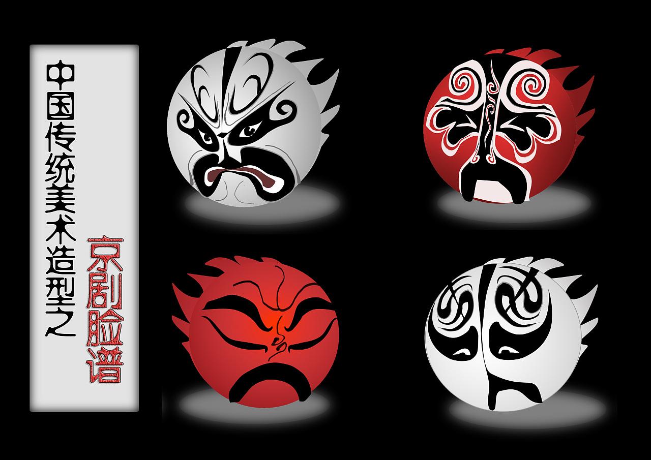 造型设计-《京剧脸谱表情》图片