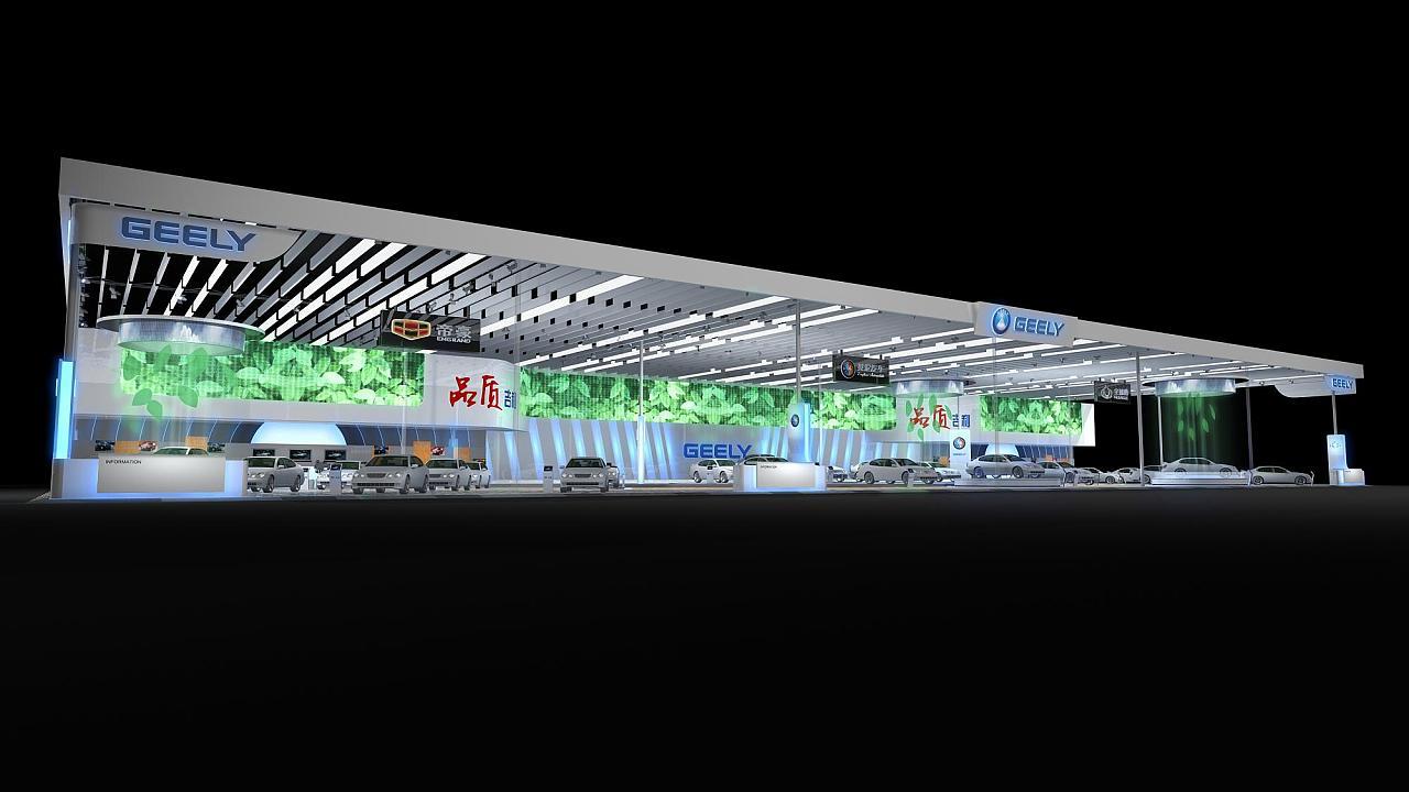 geely车展|空间|展示设计 |ericnee - 原创作品
