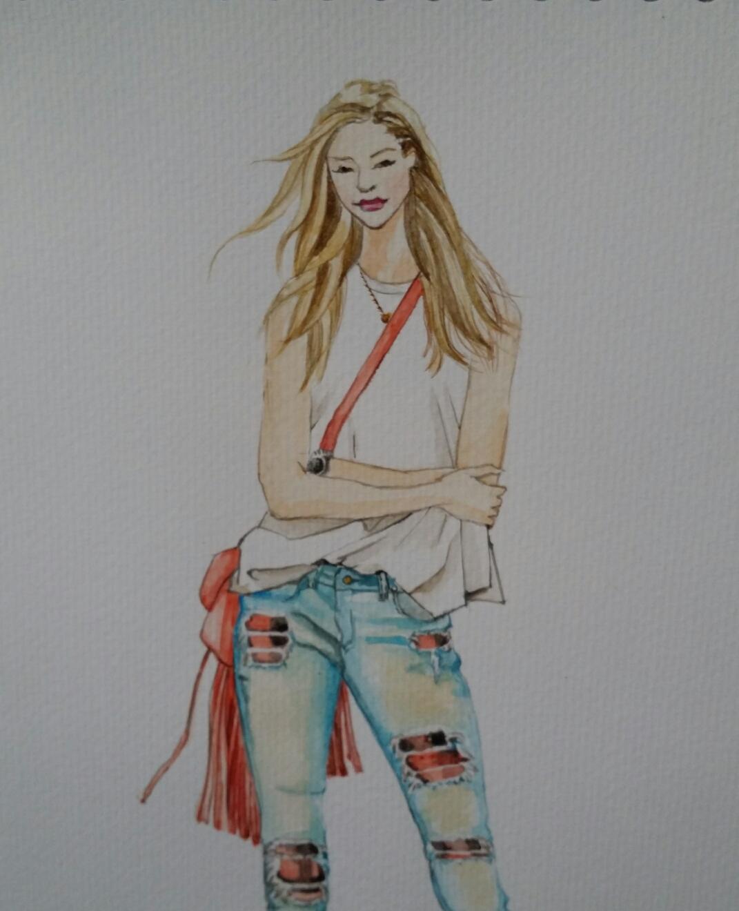 手绘服装插画(女装)