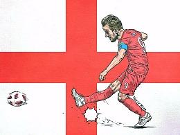 2018年俄罗斯世界杯英格兰球星——哈里·凯恩
