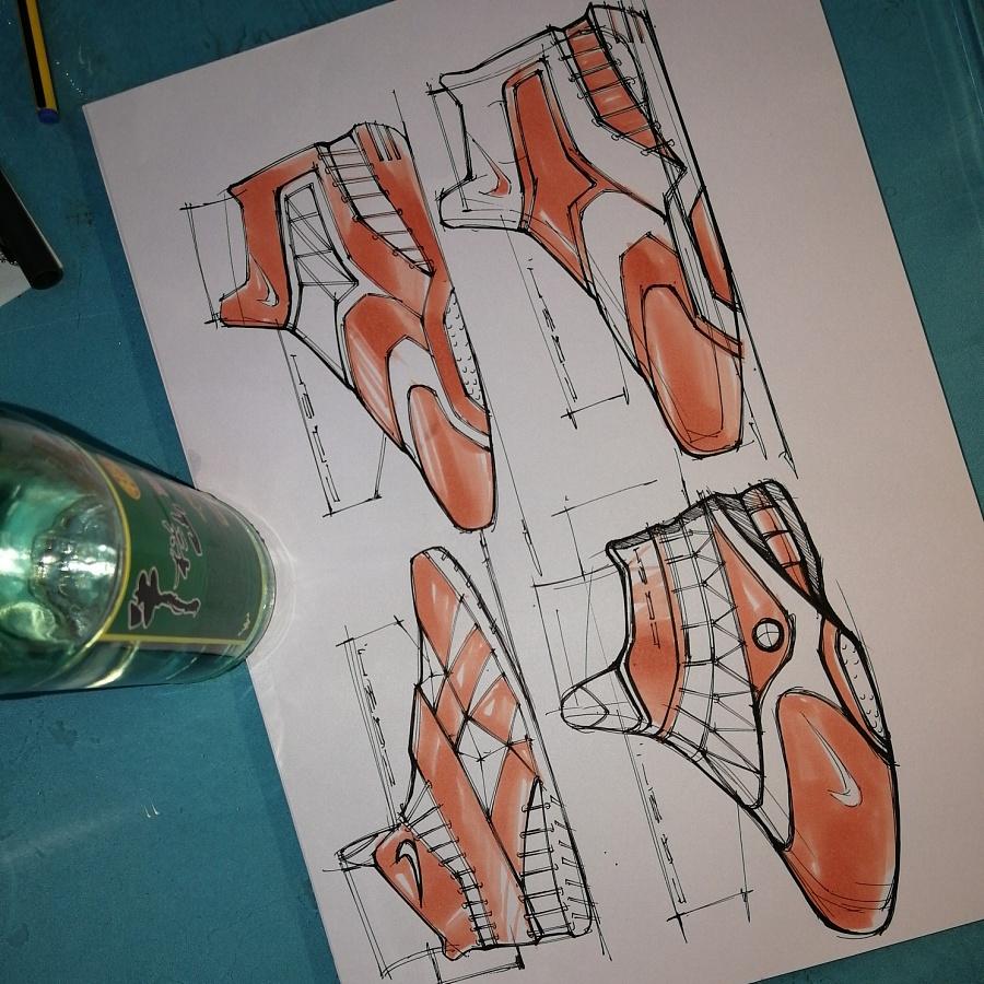 鞋子设计~一支马克笔该有的层次