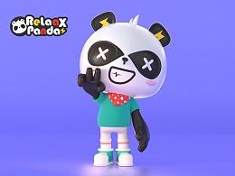 Relaax蕊来品牌熊猫IP形象