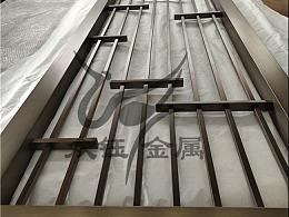 新中式古铜不锈钢屏风隔断 室内外皆可的金属屏风花格