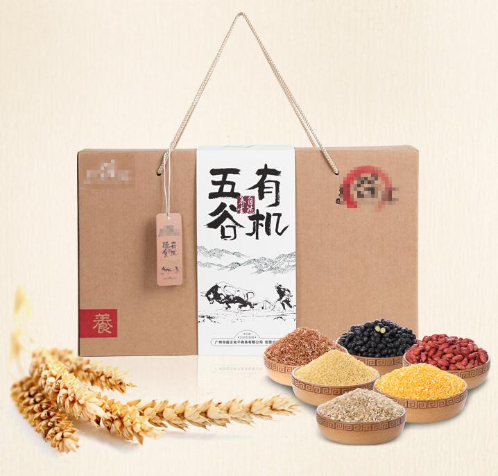五谷杂粮彩箱礼盒图片