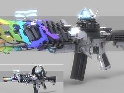 彩虹xM4科幻枪械设计x2