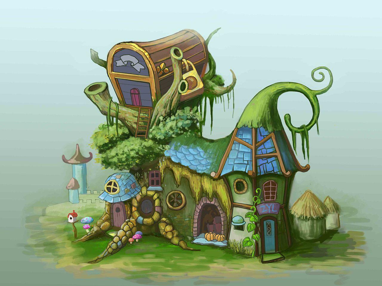 手绘插画,游戏场景设计师,道具绘画,cg手绘,美术平面设计