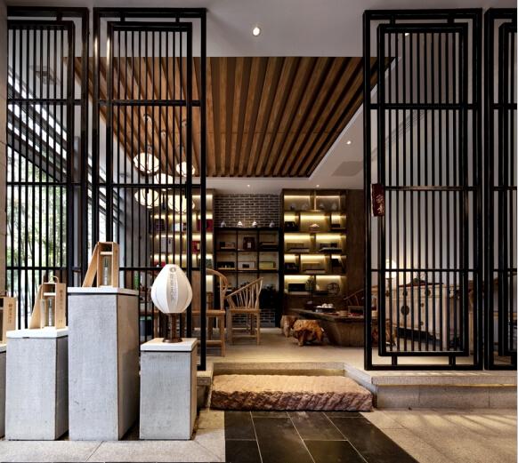 个旧天下设计丨观茶空间茶楼设计|室内设计|茶楼/建筑东阳市家具设计图片