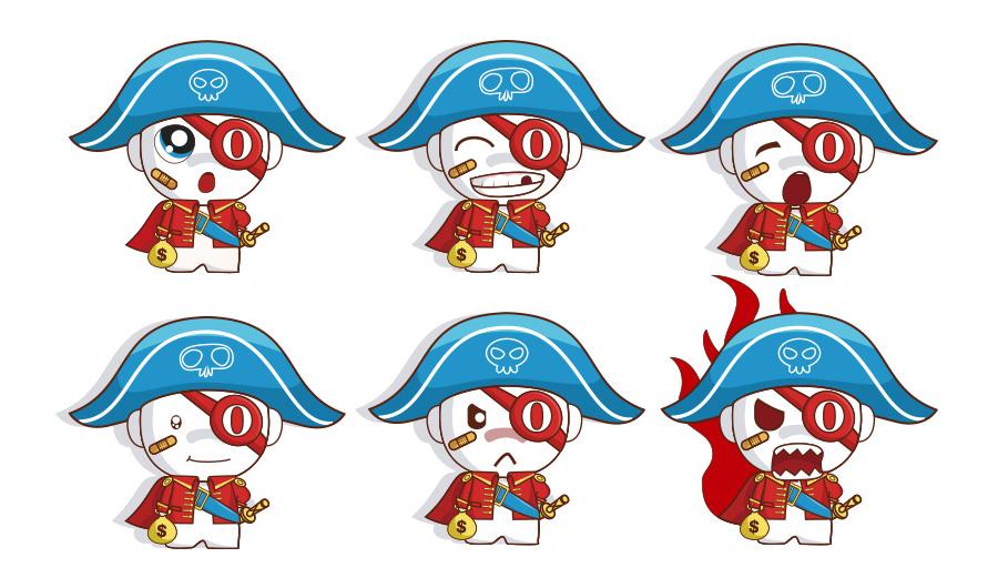 (专利)VI/海盗卡通--形象吉祥物及包装|吉祥物|平到底做什么的ui是设计图片
