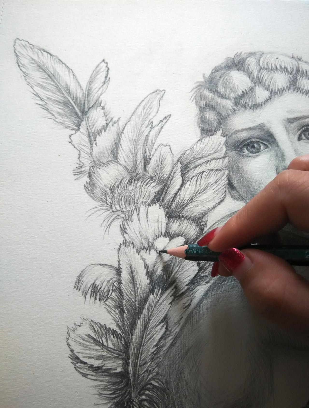 过程图 铅笔画