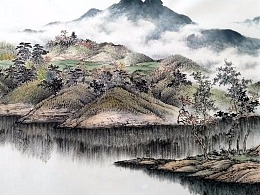 清流派画家陈泊清山水作品