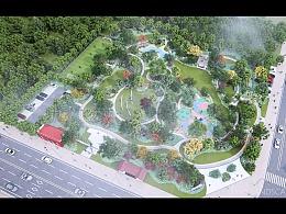 公园景观动画