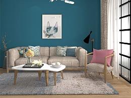 室内设计35期0基础刘同学的北欧风格作品