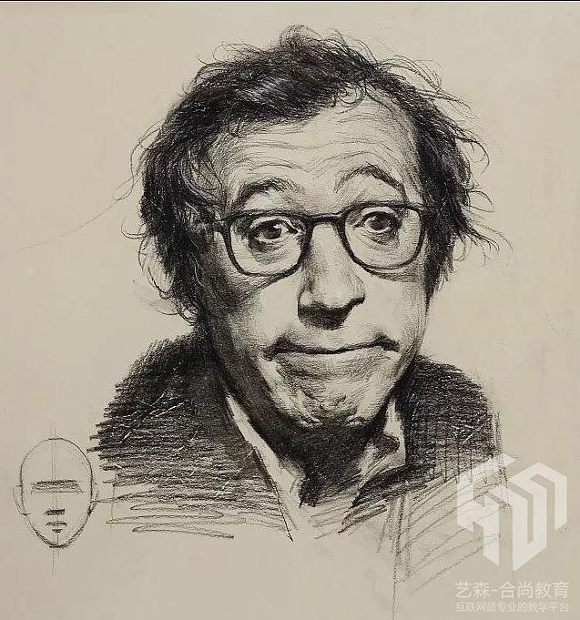 素描肖像 素描人物 铅笔画|其他|墙绘/立体画|大师兄