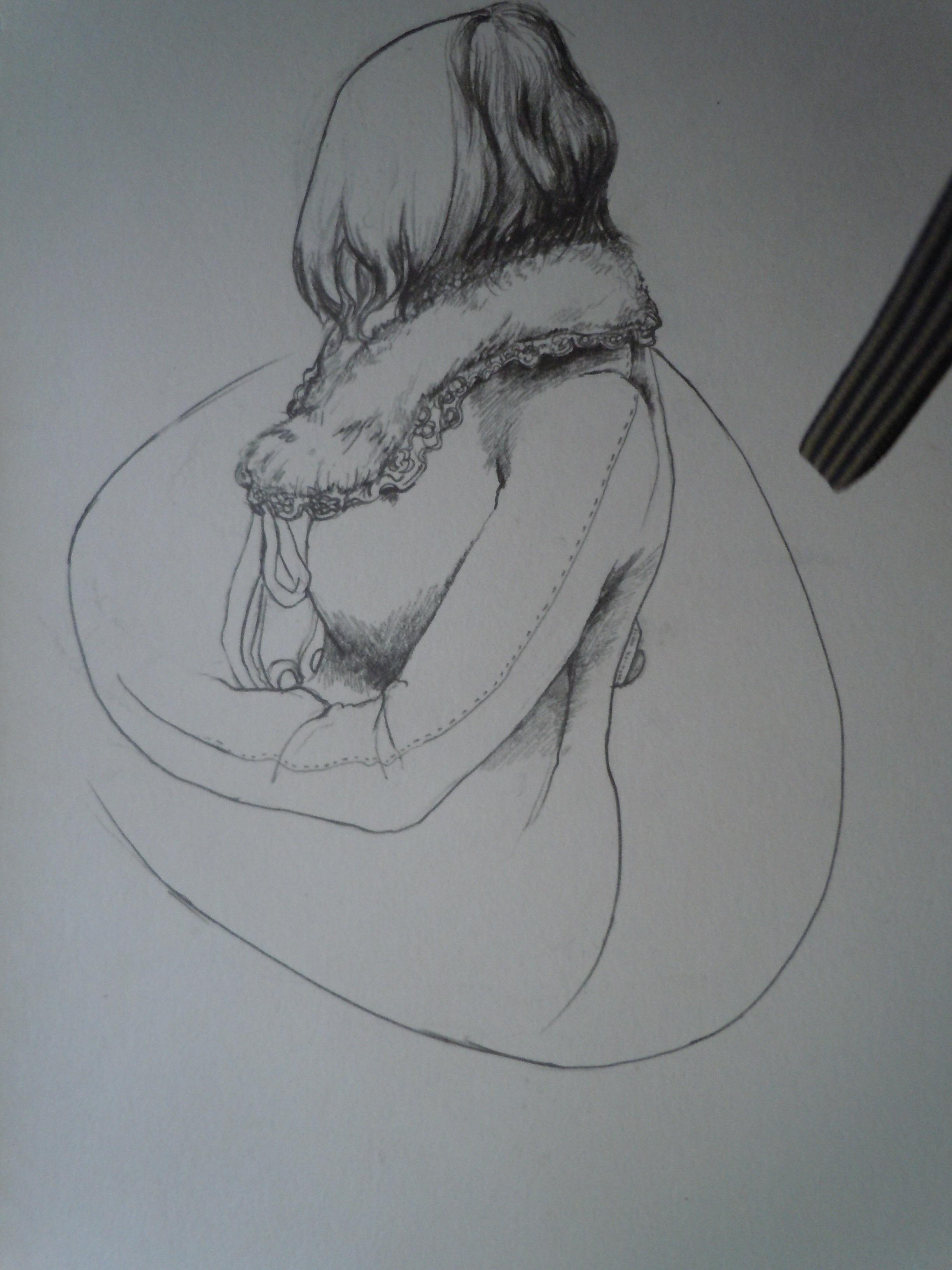 背影手绘简笔画