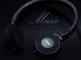 AKG耳机产品摄影实拍