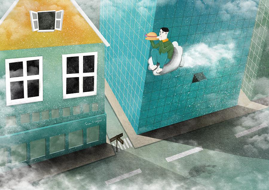 感恩父母《透明尘埃》|其他绘画|插画|HuSon_