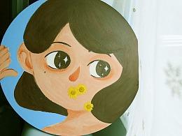 《花的话》—— 丙烯/圆框/直径40cm