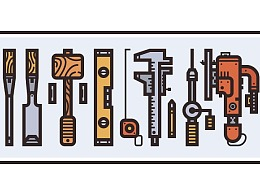 Illustrator中创建木工工具插图