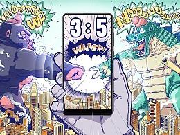 《 K&O&G 》- 小米MIX2海报创意大赛