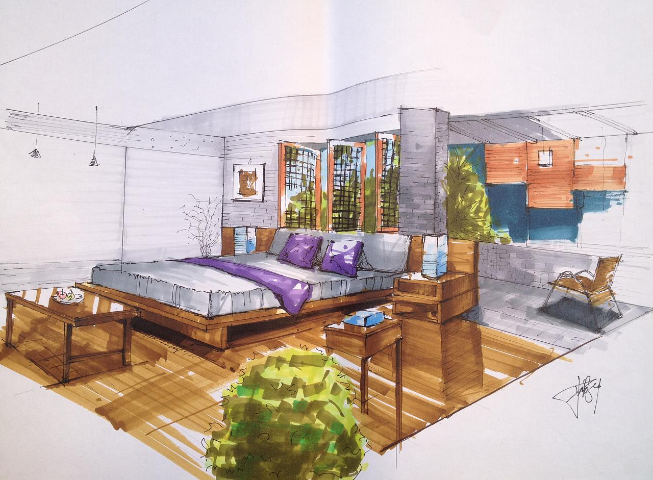 手绘临摹|空间|室内设计|圆小异15 - 原创作品 - 站酷