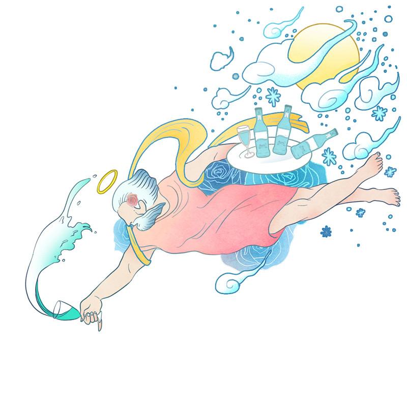 查看《#六神风味鸡尾酒#天猫活动海报插画》原图,原图尺寸:800x800