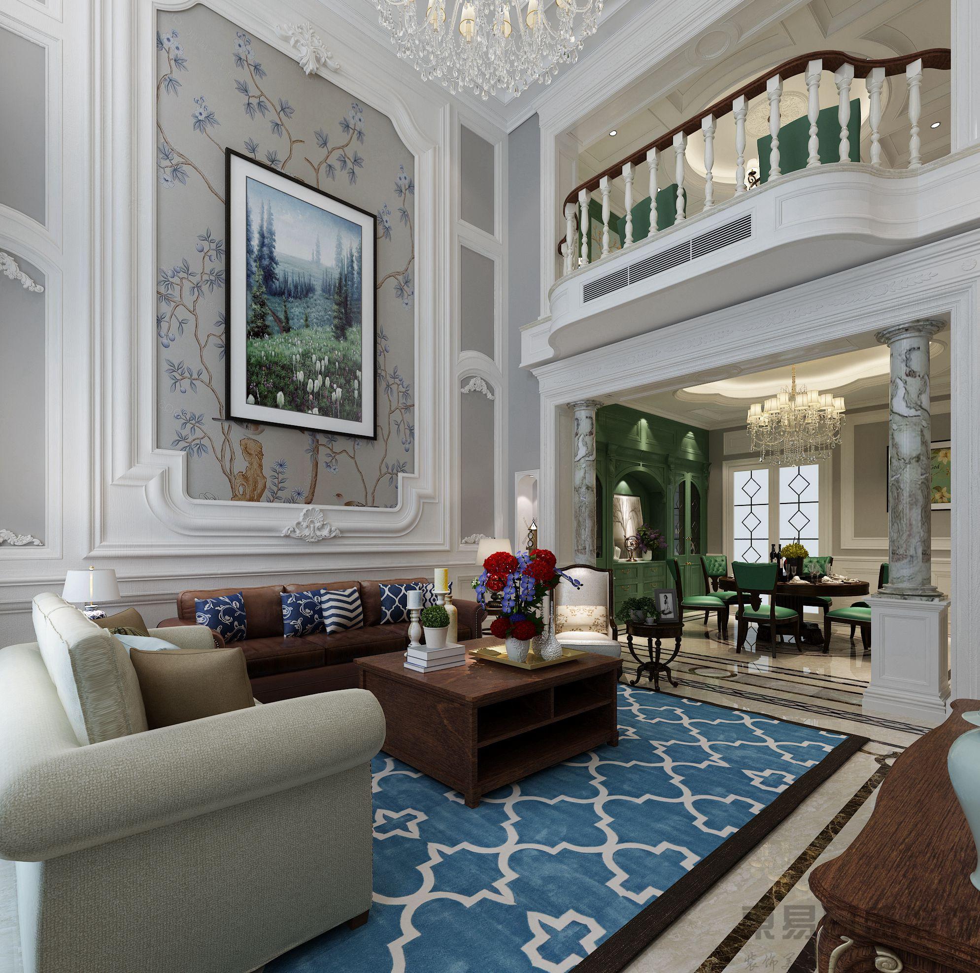 【东易格调】336㎡欧式古典风格别墅装修效果图图片