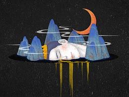 《死鸟》系列插画