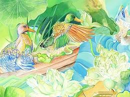 誉福园风干鸭 插画:卓君梵