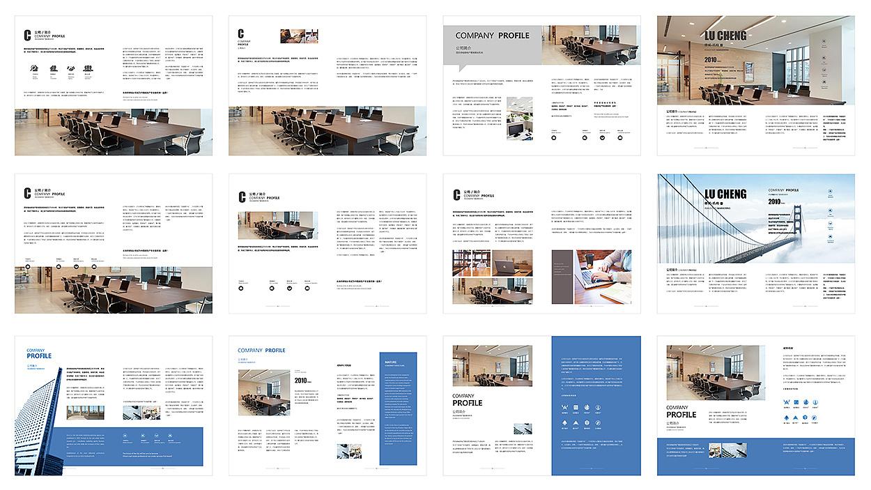 公司 企业画册排版练习图片