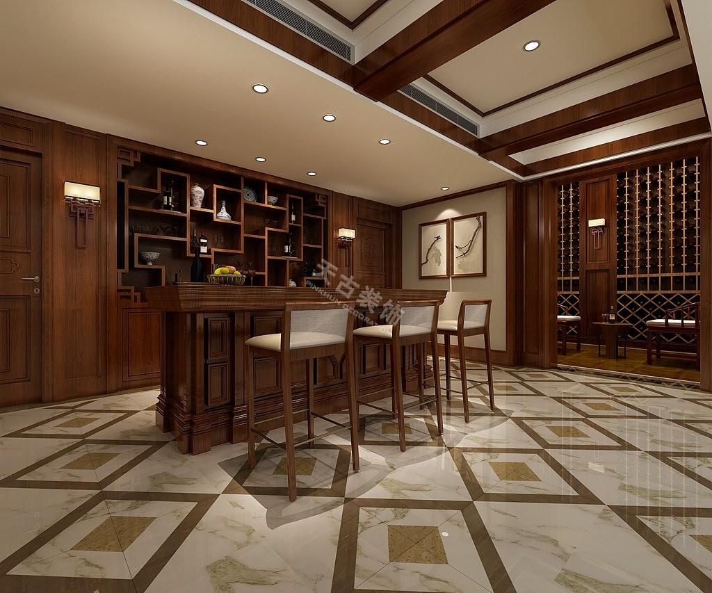 本项目以暖色为主色调,营造出一种静谧而让人放松的氛围。为了配合主色调,在室内的灯光应用上以柔和和亮度适中的灯光进行搭配。客厅的网格形地毯不禁保持着空间的规整,而且起到点缀的作用。 案例地址:融创玫瑰园 设计师: 李占春(天古装饰梦空间设计师) 施工单位:重庆天古装饰公司 设计风格:中式风格 使用面积:770平米 项目整体 犹如一幅飘逸舒展的水墨写意画,清雅质朴、格调高雅、沉重内敛。
