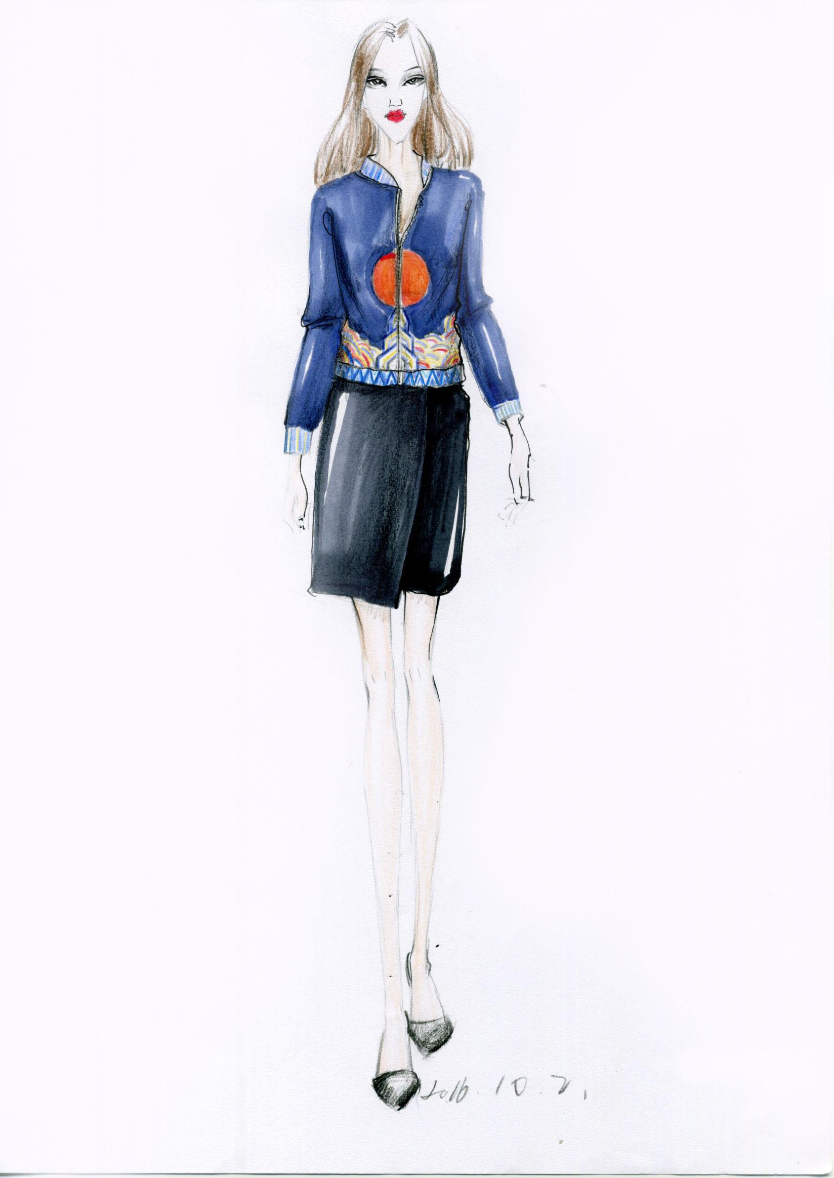原创手绘作品|服装|休闲/流行服饰|我的西装传奇
