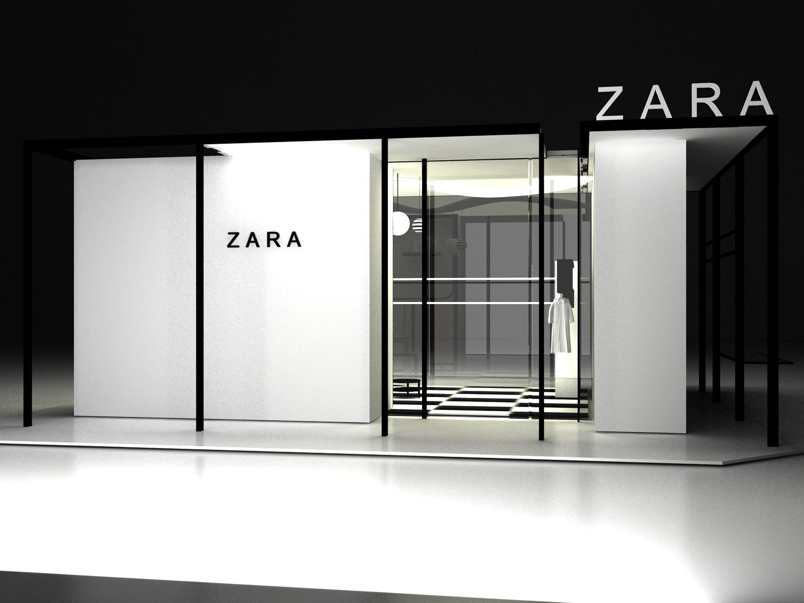 zara女装店面设计图片