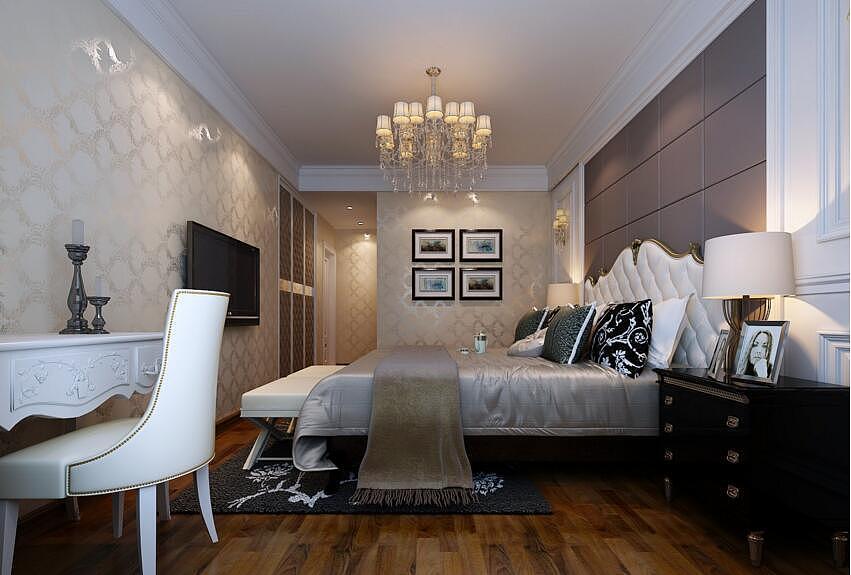 中基乐湾150平简欧风格三室两厅装修需要多少钱图片