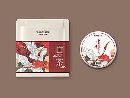 贡眉白茶饼包装设计-玄鸟呈祥