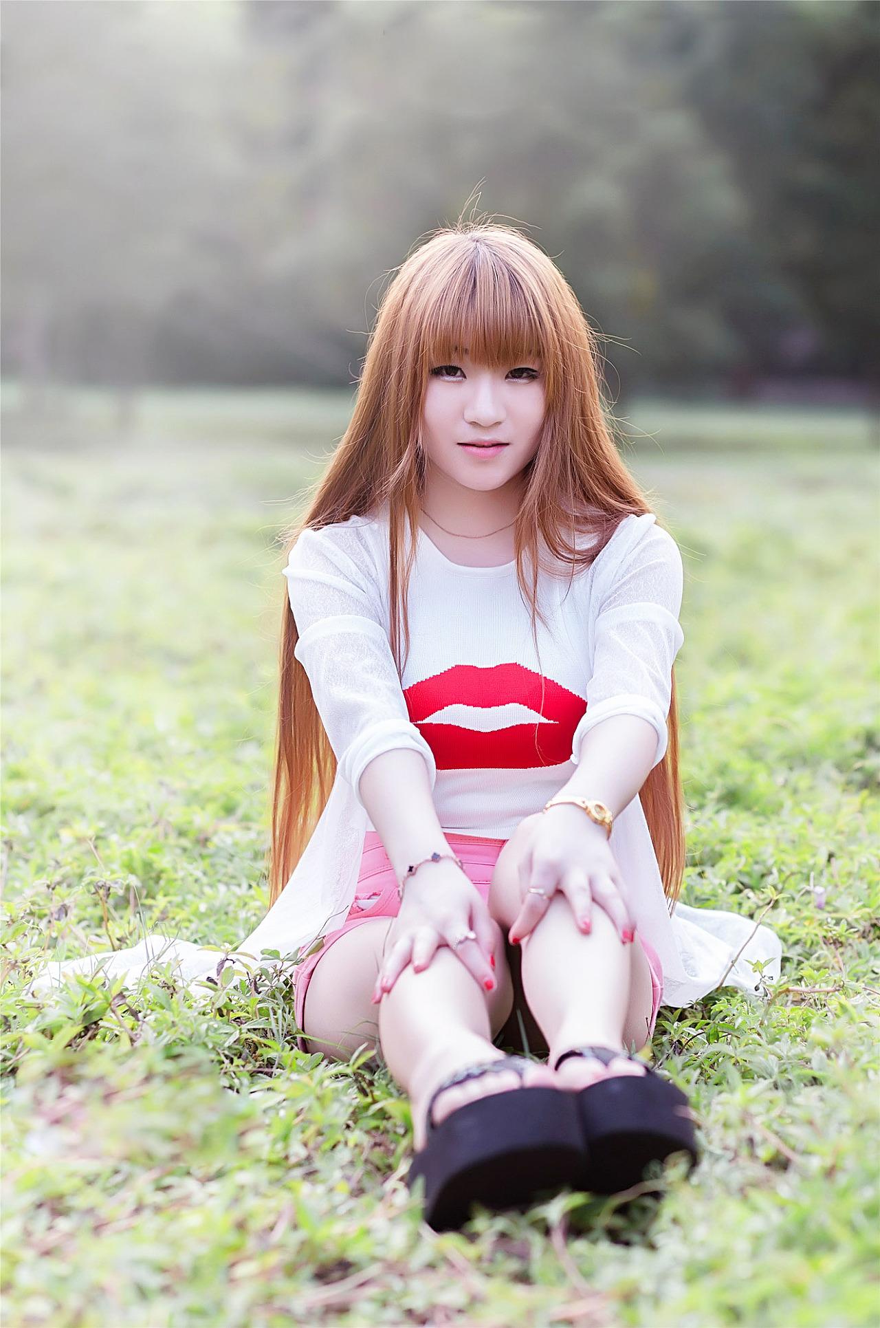 美女写真,户外摄影漂亮拍摄淘宝青年美拍唯美模特美女图片图片