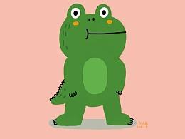 鳄鱼小表情图片