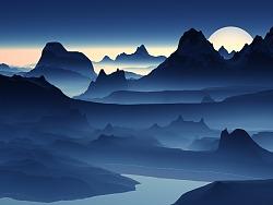 山峰和云雾