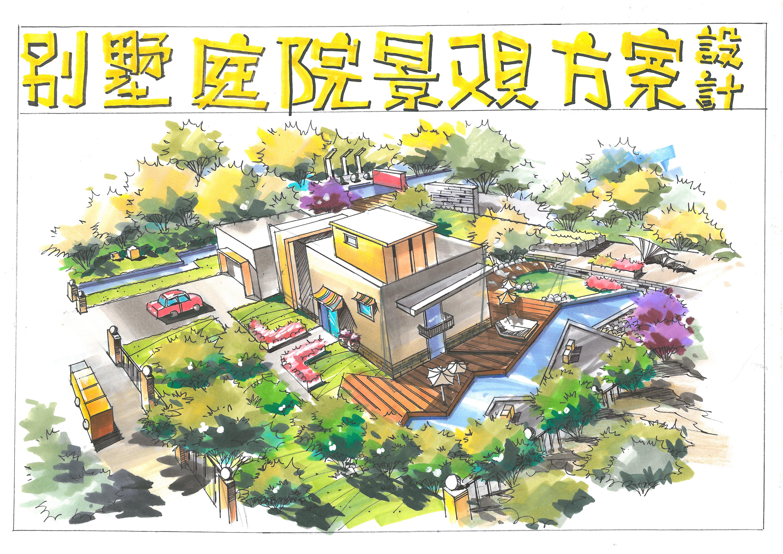 屋顶花园手绘|空间|景观设计|冒先生 - 原创作品