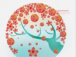 图形-广西风景节日图形设计