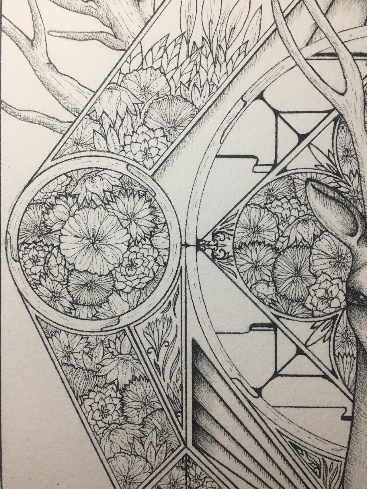 原创手绘针管笔插画