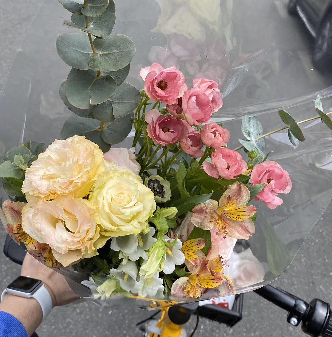 夏日炎炎柠檬茶色系花束 原创作品 站酷 Zcool