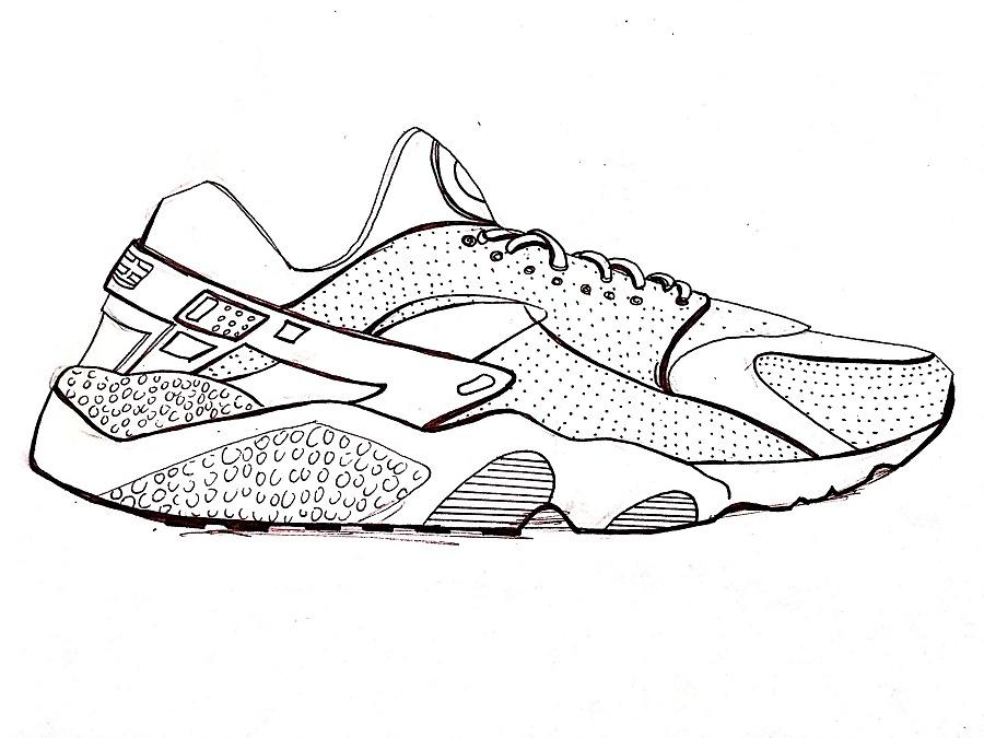 简笔画 手绘 线稿 鞋 运动鞋 900_675