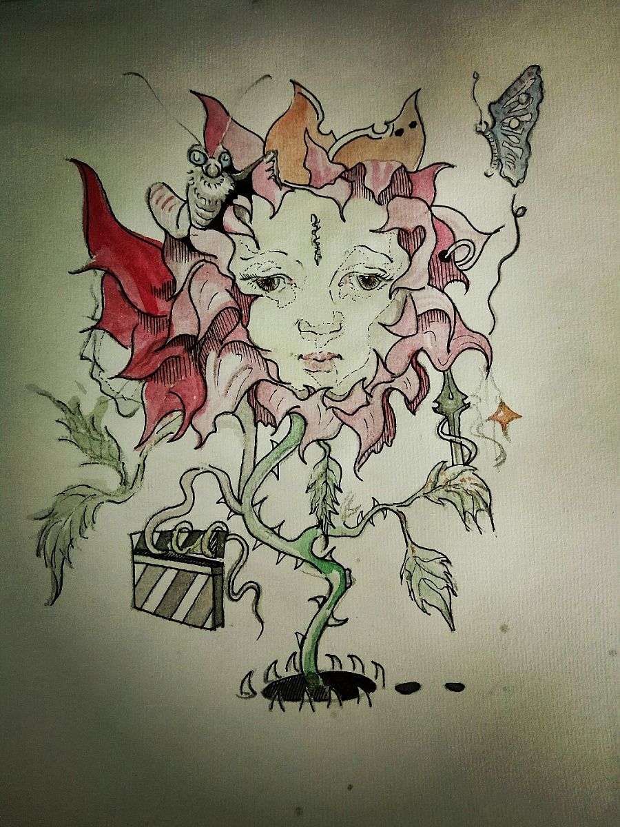 花卉插画|绘画习作|插画|孟祥合