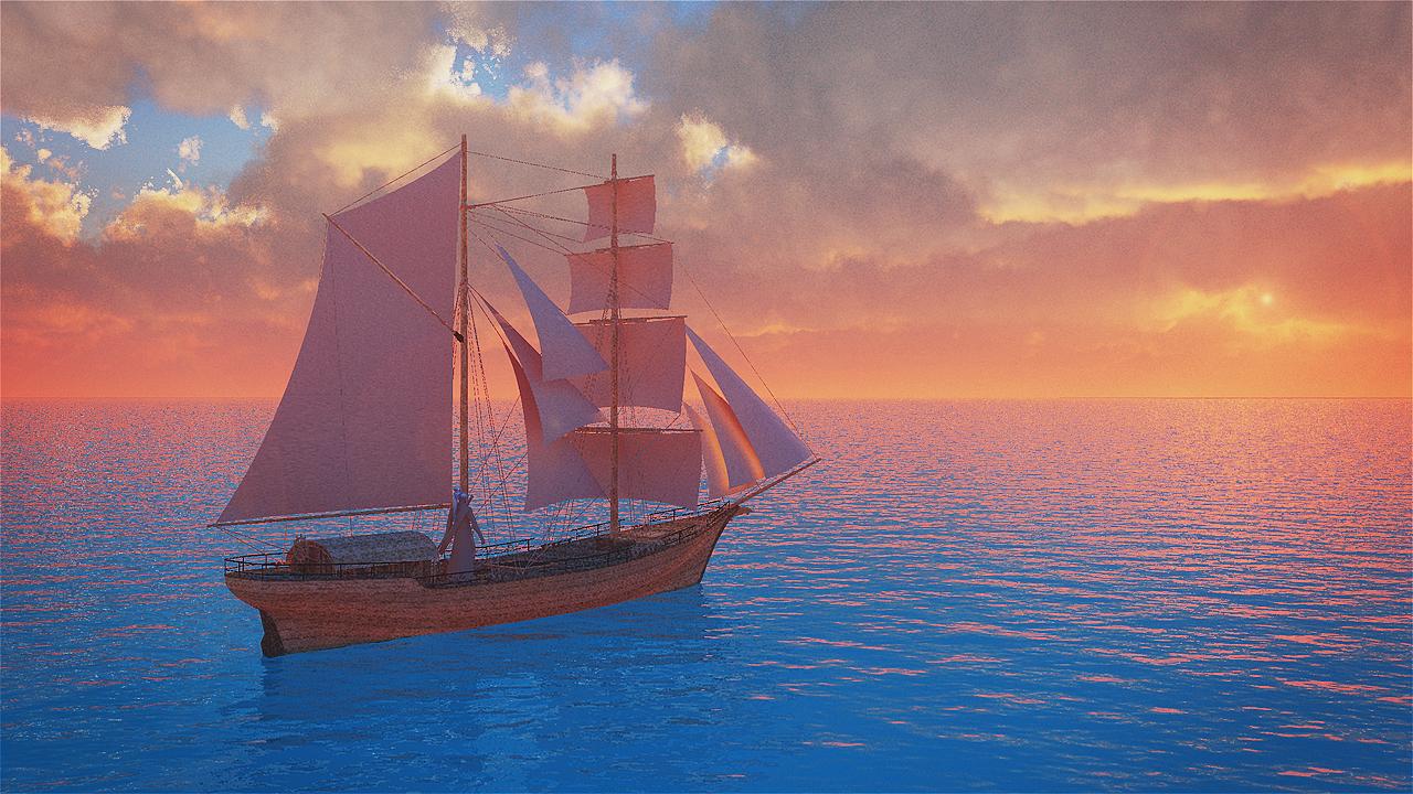 扬帆远航——构图配色练习一图片