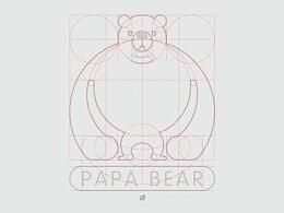 """""""熊爸爸""""logo设计"""