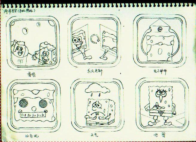 海绵宝宝手绘图标