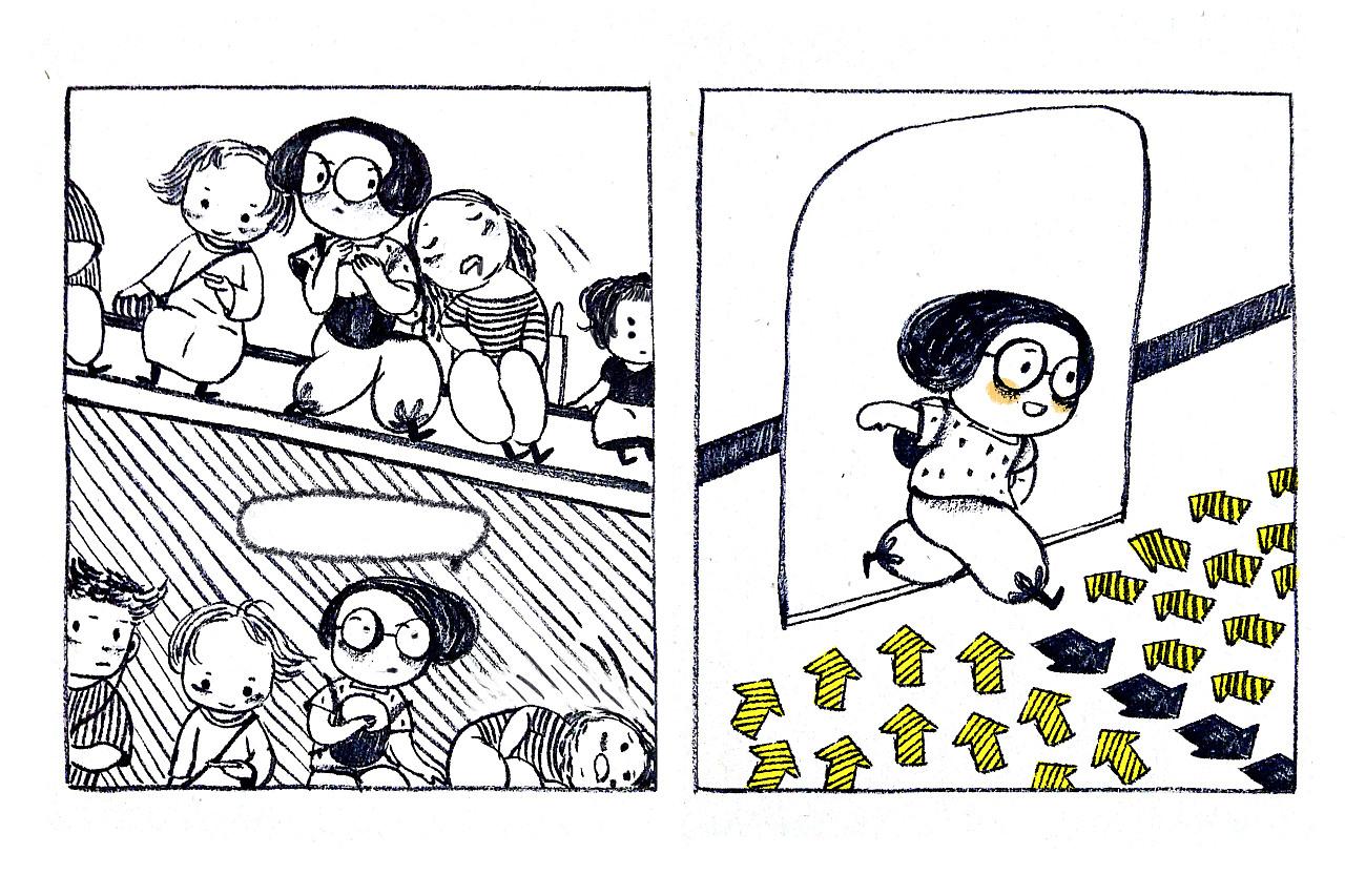卡通手绘地铁简笔画